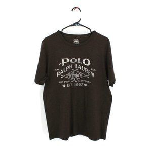 Polo Ralph Lauren Brown Logo Tee M